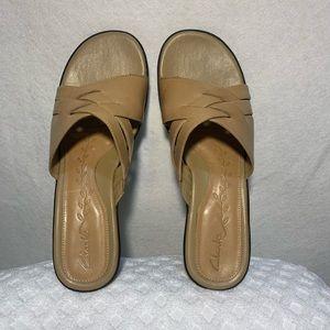Clark's Leather Sandal Camel/Tan